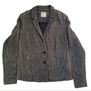 Anthro | SANDWICH Grey Slub Jersey Blazer, Large